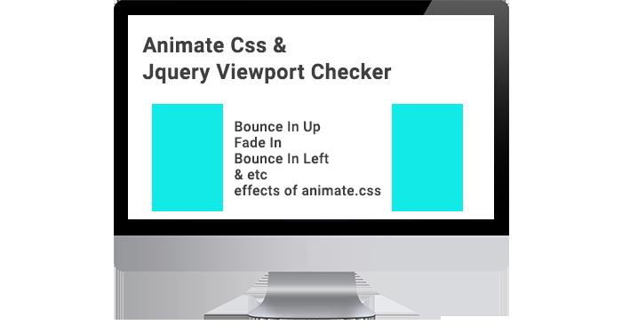 Animate Css & Jquery Viewport Checker