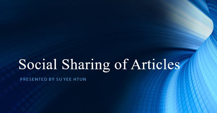 Social Sharing of Articles