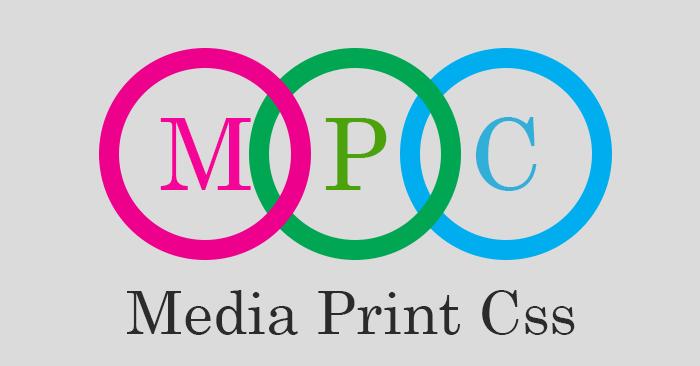 Media Print CSS