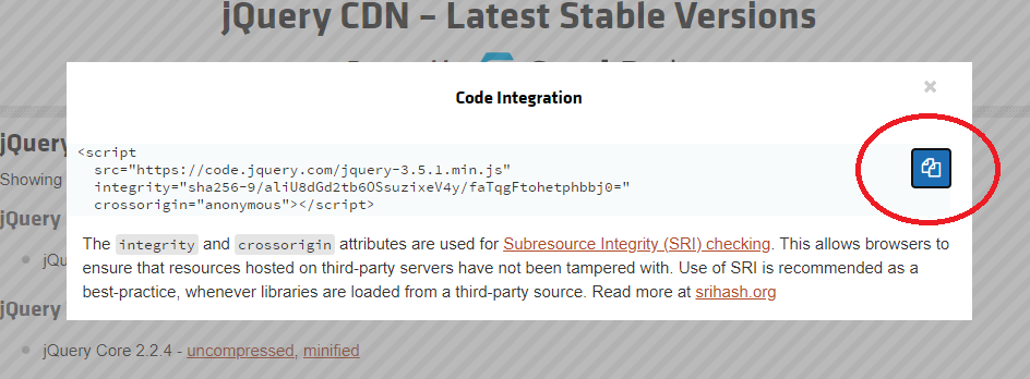 Copy CDN Link
